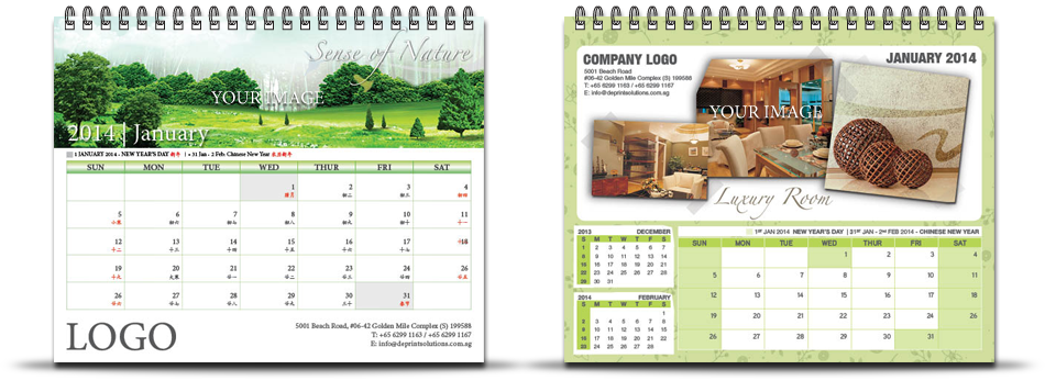 custom business calendars